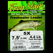 Frog's Hair Freshwater Leader Stiff butt  9.5' 4X
